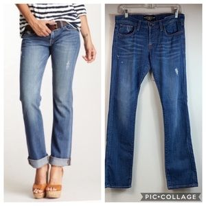 Lucky Brand Sienna Tomboy button fly stretch jeans
